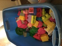 Tote full of large Legos in Fort Hood, Texas
