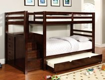 TWIN / TWIN BUNK BED W STORAGE FREE DELIVERY in Huntington Beach, California