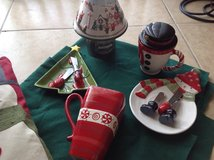 Christmas decor & Yankee candle set in Yucca Valley, California