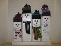 2 x 4 snowman family in Camp Lejeune, North Carolina