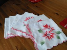 Beautiful Poinsettia Cloth Napkins in Shorewood, Illinois