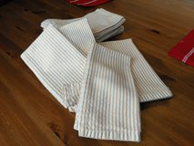 Set of 10 Gold Striped Napkins in Sugar Grove, Illinois