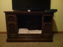Old console tv converted to pet bed and table in bookoo, US