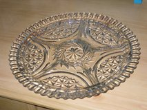"12"" vintage cut glass divided platter in St. Charles, Illinois"