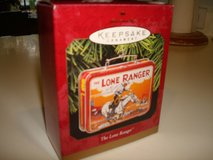 1997 HALLMARK KEEPSAKE ORNAMENT THE LONE RANGER Pressed Tin LUNCH BOX in Brookfield, Wisconsin