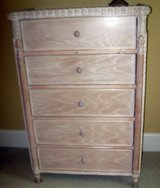 Beautiful Peach Colored Wicker & Wood Tall Chest in Aiken, South Carolina
