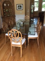 Gorgeous Glass Diningroom Table and Six Chairs in Aiken, South Carolina