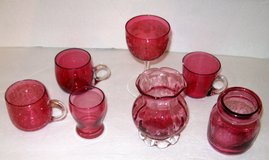 Miscellaneous Collection of Vintage Cranberry Glass in Aiken, South Carolina