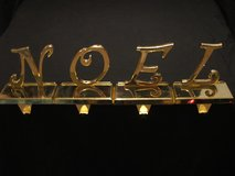 Brass Noel Mantel Stocking Holders in Batavia, Illinois