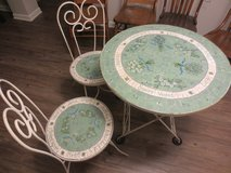 Beautiful Tile Garden Patio Table Chairs Furniture in Elgin, Illinois