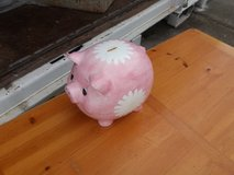 Large glass piggy bank in Fort Riley, Kansas