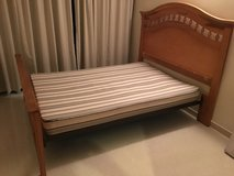 Wooden Frame Full/Queen Bed in Okinawa, Japan