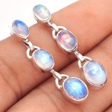 "New - Moonstone 925 Sterling Silver 1 1/2"" Earrings in Alamogordo, New Mexico"