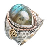 Labradorite 925 Sterling Silver Ring - Size 6 1/4 in Alamogordo, New Mexico