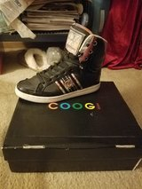Coogi hightop black leather gym shoes in Bolingbrook, Illinois