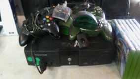X-BOX   with 6 games, 2 cordless, 2 corded controllers, in Alamogordo, New Mexico