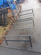 Folding bed frame double size w/mattress in Fort Riley, Kansas