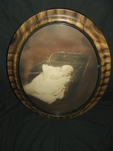 Antique Baby Picture / Wood Frame & Curved Glass in Naperville, Illinois