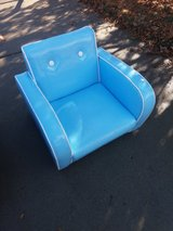 Blue chair in Fort Riley, Kansas
