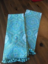*REDUCED* Blue and Green Paisley hand towels NWOT in Plainfield, Illinois