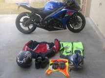 GSXR-1000 and All riding accessories in Hinesville, Georgia