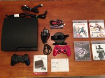 Playstation 3 PS3 Bundle (Console/Games/Bluetooth Headset/Controllers) in Camp Lejeune, North Carolina