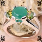 New - Green Quartz and Peridot Silver Ring - Sizes 7 and 8 in Alamogordo, New Mexico