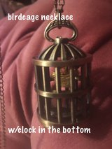 Birdcage necklace and clock in El Paso, Texas
