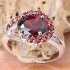 New - Red Garnet Silver Ring - Size 8 in Alamogordo, New Mexico