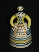 Vintage La Menora bell lady Talavera Pottery made in Spain in Bolingbrook, Illinois