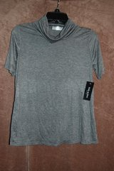 Brand new lightweight Turtle neck shirt Dark grey With tags Soft! in Bolingbrook, Illinois