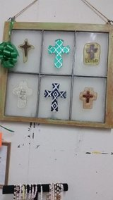 Window Pane with Crosses in Cleveland, Texas