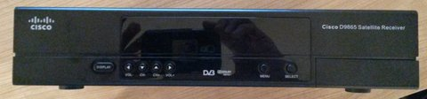 AFN Cisco HD satellite receiver with a BUYBACK OFFER in Ramstein, Germany