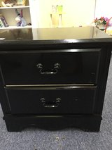 Black Lacquer Two-Drawer Night Stand in Perry, Georgia