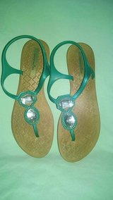 Teal sandals size 7.5 in Byron, Georgia