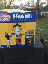 8 Ft Inflatable Jester for Mardi Gras in Fort Polk, Louisiana