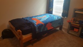 Kids twin bed w/ mattress  and box spring in Hinesville, Georgia