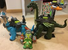 lot of 3 dinosaurs with armor and warrior in Ramstein, Germany