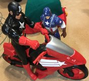 captain america plus motorcycle in Ramstein, Germany