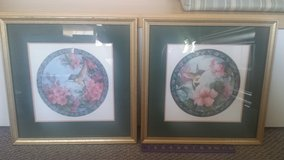 Set of 2 Framed Matted Pictures - Hummingbirds! in Naperville, Illinois