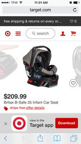 Britax infant seat 2016 new in packaging in Beaufort, South Carolina