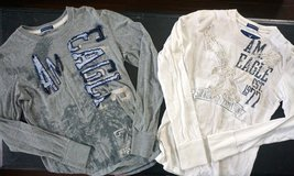 2 American Eagle Boys / Men's Shirts Sz XS (N34) in Naperville, Illinois