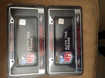 Broncos license plate frames in Vacaville, California