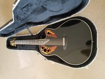 Ovation Standard Elite Guitar Black w/Ovation Hard Case in Schofield Barracks, Hawaii