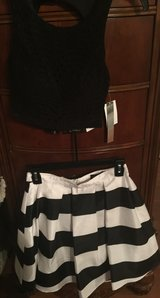 Cute Black top with Striped Skirt NWT in Oceanside, California