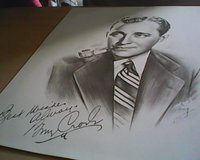 Sketch Bing Crosby in Waukegan, Illinois