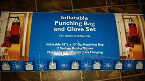 Inflatable Punching Bag & Glove Set in Clarksville, Tennessee