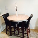 Marble table w/chairs in San Clemente, California