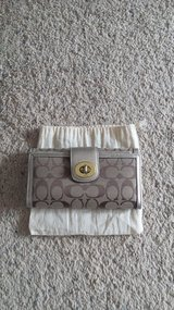 Coach Gold Check Book Wallet in Camp Lejeune, North Carolina