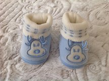 New Reindeer Baby Boy Velour Booties, size 0-9 months in Palatine, Illinois